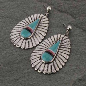 Large Western Design Post Earrings